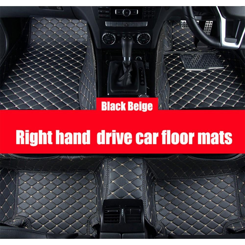 5d Leather Car Floor Mats Carpet For Perodua Axia Bezza Myvi
