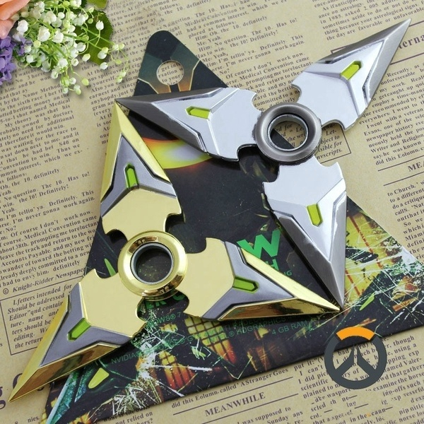 Novelty & Special Use Costumes & Accessories Kids Bule Genji Shuriken Zinc Alloy Rotary Darts Weapons Model For Children Festival Gifts