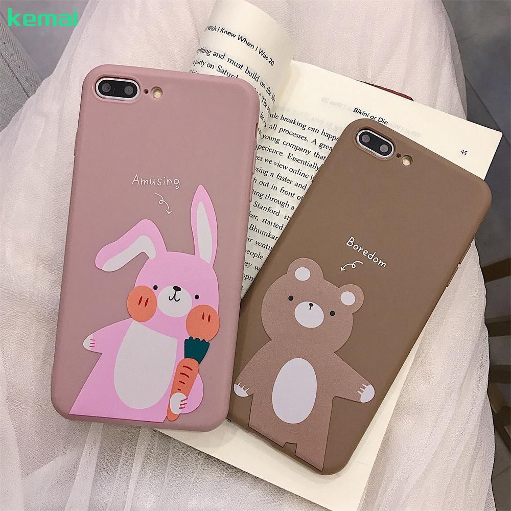 ✨ OPPO R9/R17 Bunny& Bear Case R9S/R9S Plus/R11/R11 Plus/R11S/R11S Plus TPU Cover