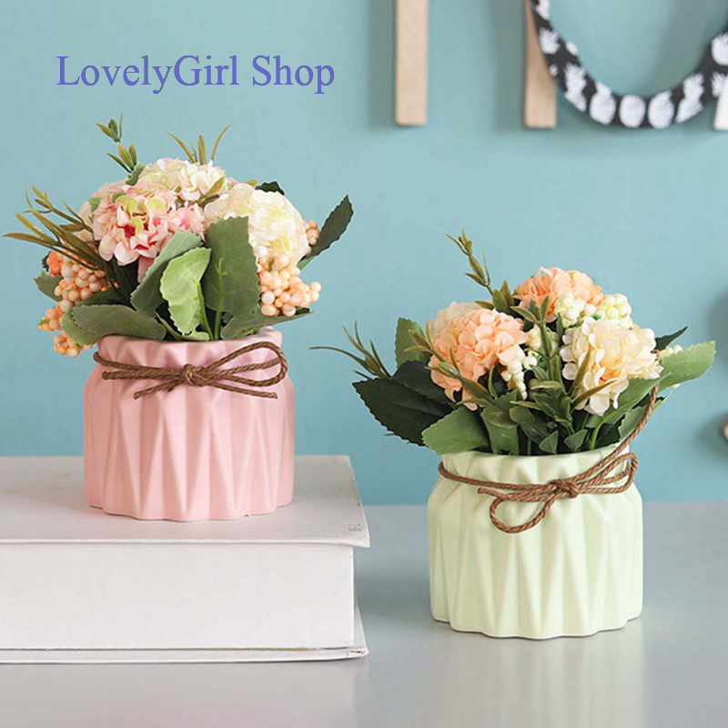 Tranquillt Artificial Flowers In Vase Silk Rose Flower Arrangements Fake Faux Flowers Bouquets With Ceramics Vase Table Centerpieces For Dinning Roon Table Kitchen Decoration Champagne Home Amp Kitchen Shopee Singapore