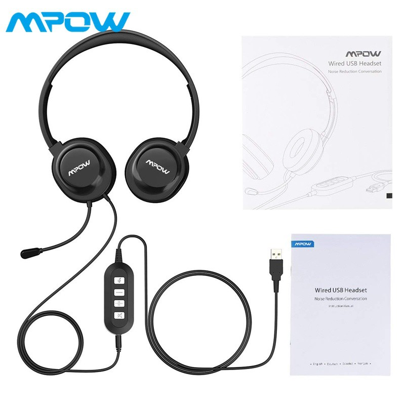 0fdc0986d04 Mpow 071 USB Headset/3.5mm Computer Headset w/ Microphone Noise Cancelling  | Shopee Singapore