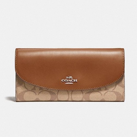 a4d26b2a435a Coach Compact ID Wallet In Signature Coated Canvas