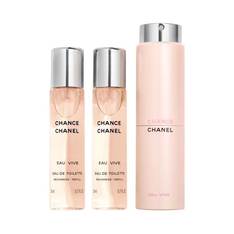 190ce290 Chanel Chance Eau Vive Eau de Toilette Twist and Spray 3 x 20ml