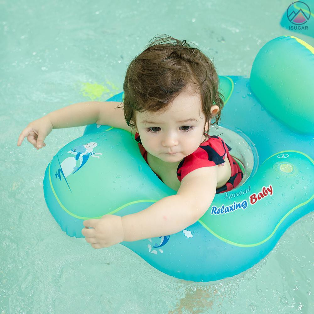 Kid Baby Care Seat Swimming Ring Pool Aid Trainer Beach Float-Inflatable Rand SW
