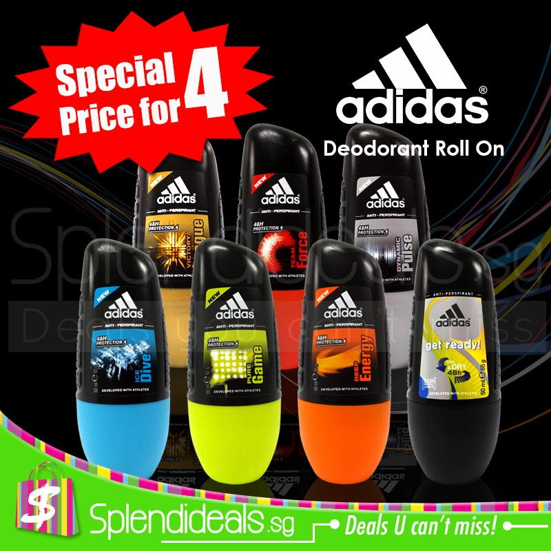 rizo asentamiento Si  SPECIAL for 4) Adidas Selections 48h Protection Anti-Perspirant Roll On  50ml (Made In France)   Shopee Singapore