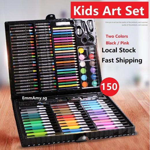 ★ EmmAmy Kids ★ 150pcs/set Children Art Set Marker Drawing Painting Water Color Pen Crayon
