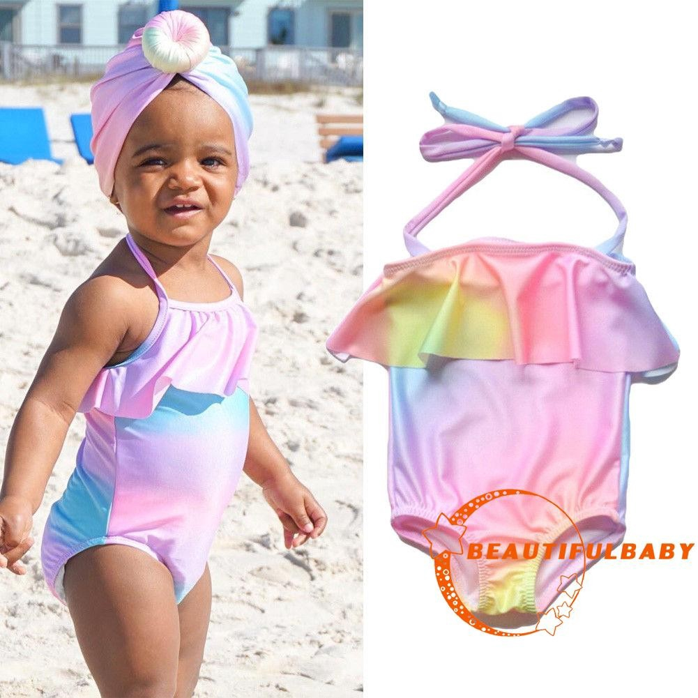 ac6a51a399 TUT-Toddler Kids Baby Girls Summer Swimsuit Tankini Bikini Set Swimwear  Bathing | Shopee Singapore