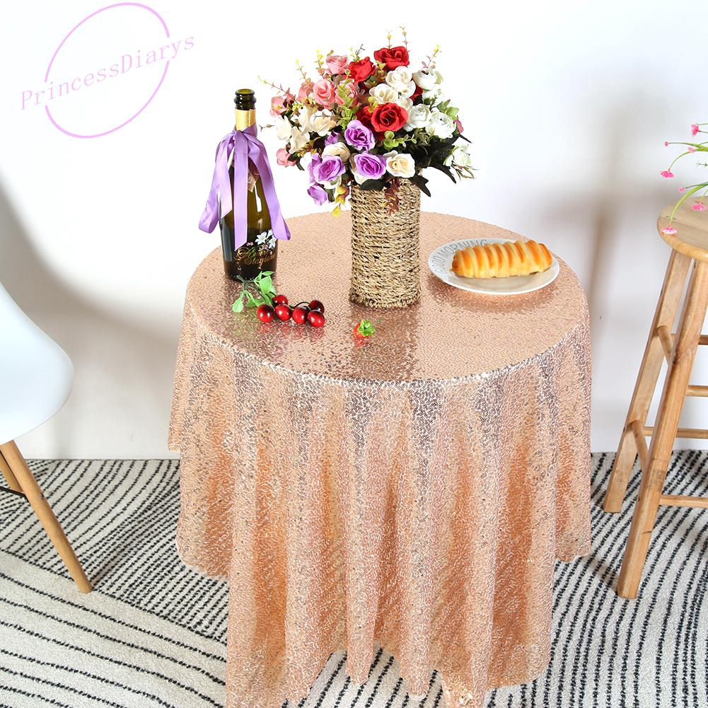 Pr Square Sequin Tablecloth Round Table Runner Wedding Banquet Xmas Home Shopee Singapore