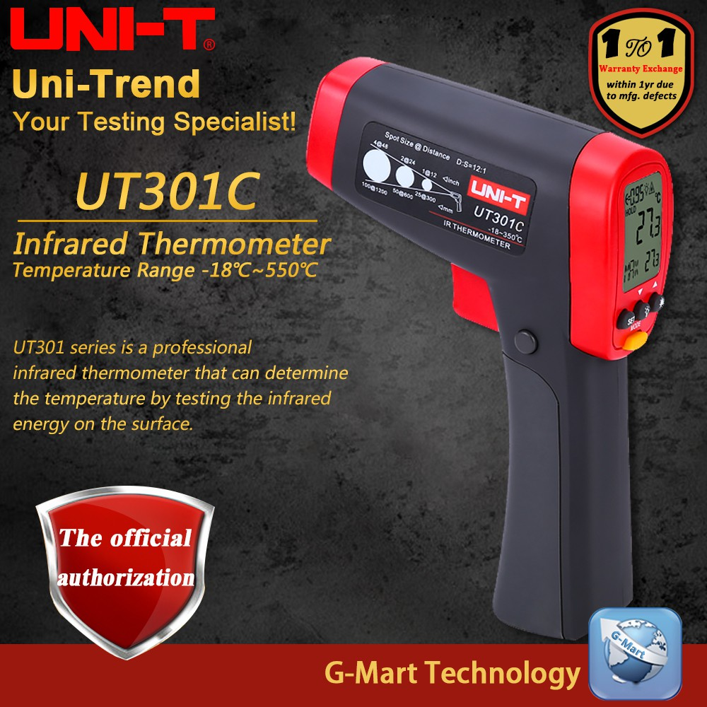 UNI-T UT300A Infrared Thermometer Measure Temperature  b738ebd876544