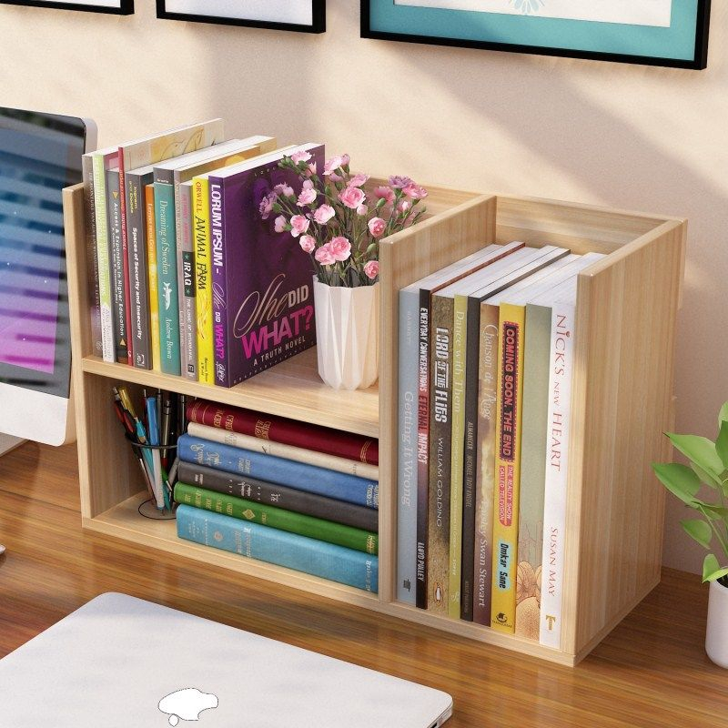 Student Desktop Bookshelf Bookcase Shelf Office Storage Rack
