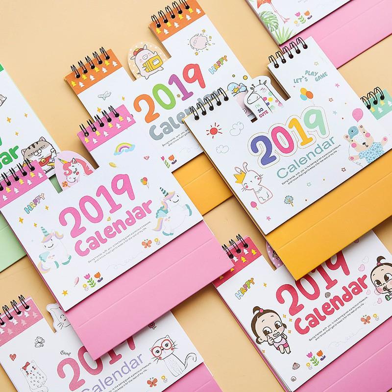 Office & School Supplies 1 Pcs Kawaii 2019 Year Unicorn Crystal Ball Mini Coil Table Calendars Desk Calendar Stationery School Supplies