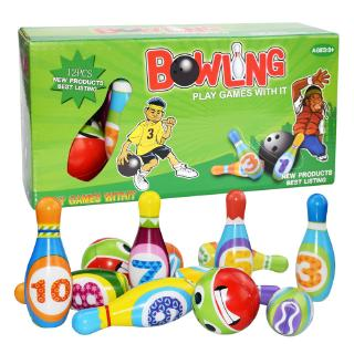Kids Bowling Play Set Foam Ball Toy Gift Early Educational