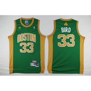 huge discount f9fdb 1734b Larry Bird Boston Celtics #33 Hardwood Classics Green Gold ...