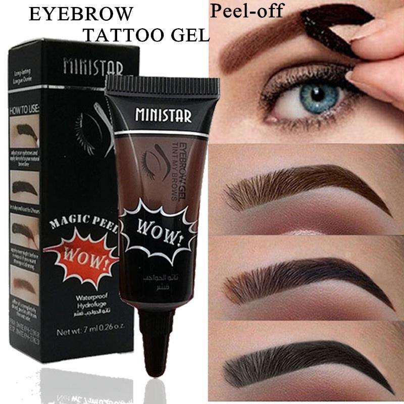 Waterproof Liquid Henna Eyebrow Tint Gel Long Lasting Peel ...