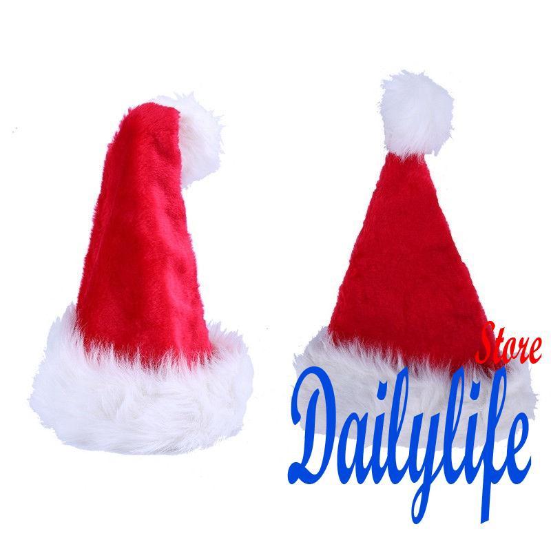 Adult Soft Plush Ultra Thick Santa Claus Christmas Party Cap Hat Decoration