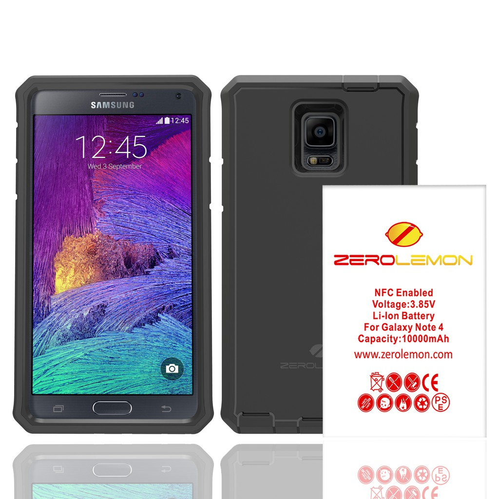 various colors ab3d4 4b9be ZeroLemon 10000mAh Rugged Battery Case for Samsung Note 4