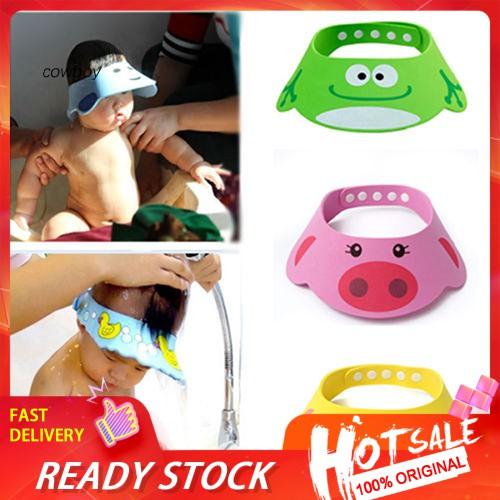 Cwb Adjustable Soft Kids Children Baby Shampoo Bath Shower Cap Hat Wash Hair Waterproof Shield Shopee Singapore