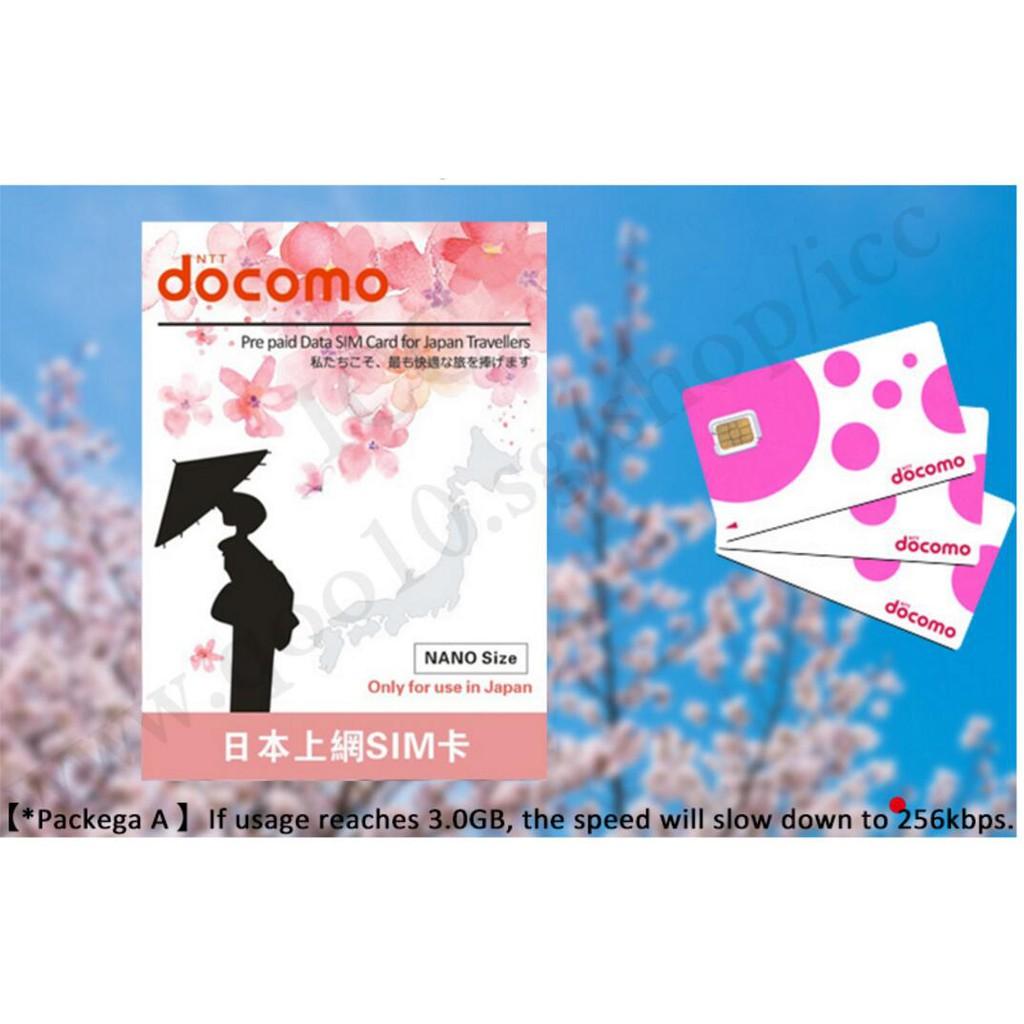 ICC_ Japan Docomo 5-30 Days SIM Unlimited Data | Shopee