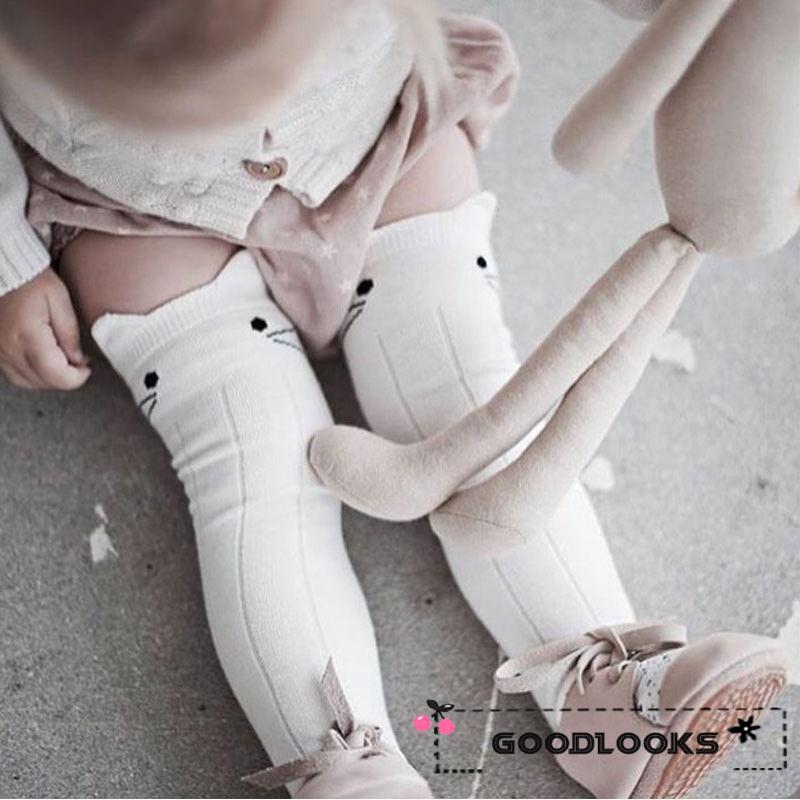BOBORA Baby Girls Knee High Cotton Socks Princess Lace Tight Socks 0-3Years Old