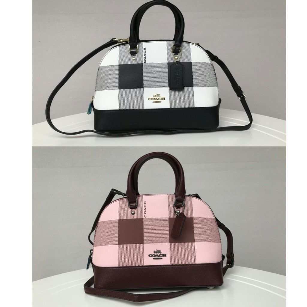 4b891de971 COACH MINI SIERRA SATCHEL WITH BUFFALO PLAID PRINT F25918 Women Bag Handbag