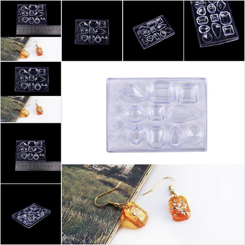 DIY Silicone Diamond Cone Mold Making Jewel Pendant Resin Casting Mould Craft SZ