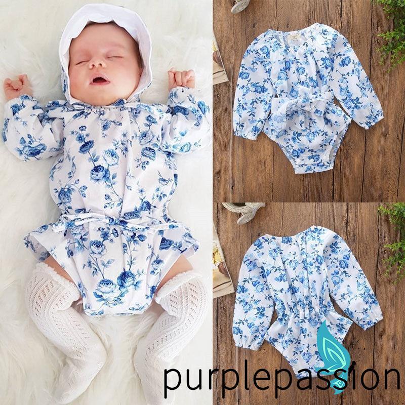 New Newborn Baby Girls Boy Cartoon Long Sleeve Hooded Romper Jumpsuit Clothes LR