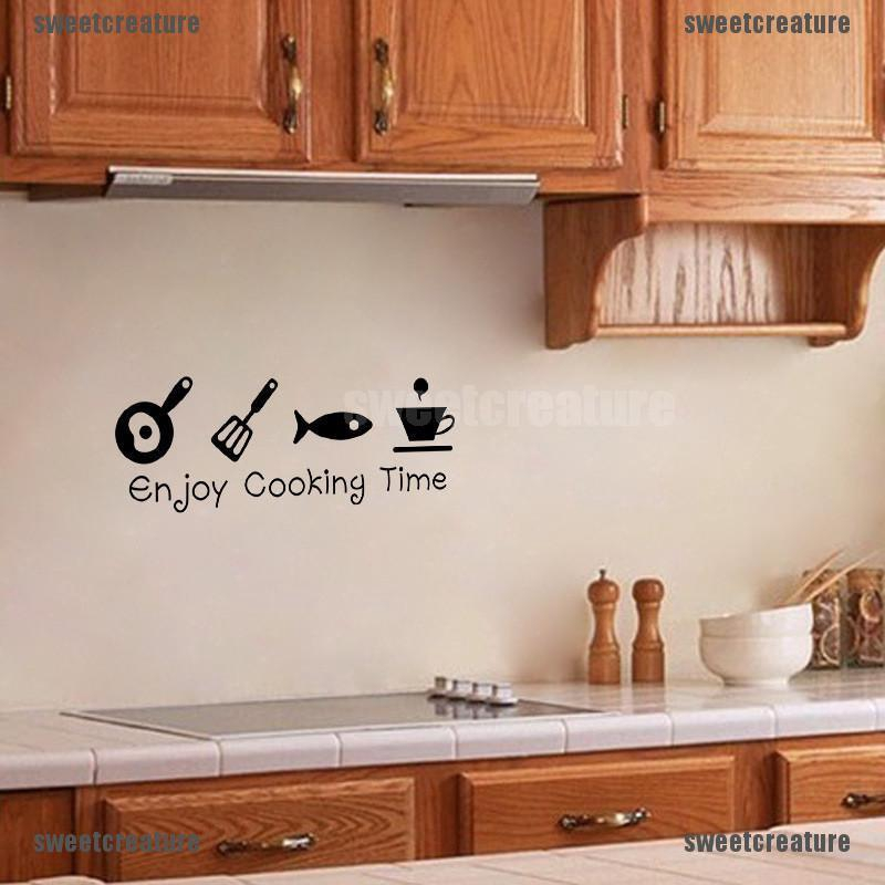 Sl Diy Wall Stickers Kitchen Decal Home Decor Restaurant Decor 3d