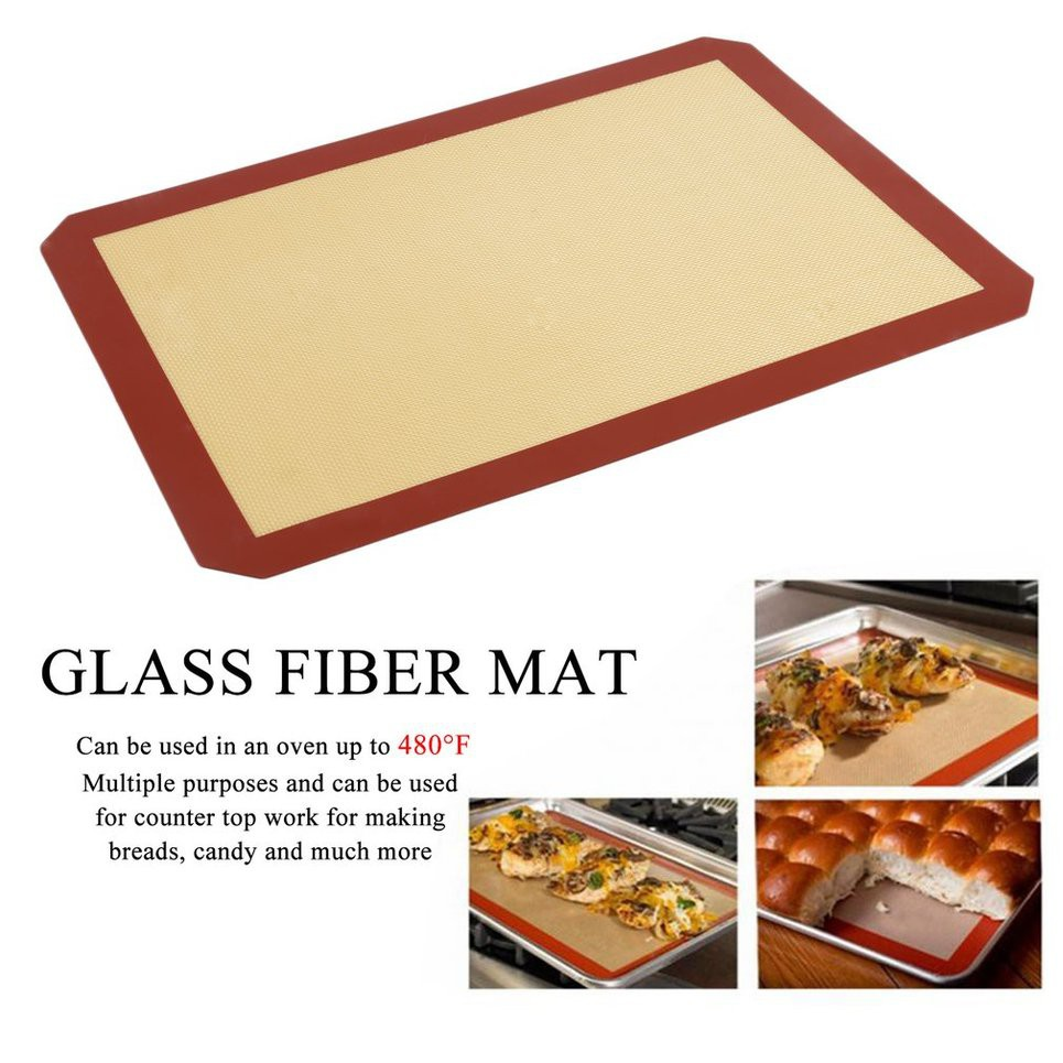 Sensible Baking Mat Glass Fiber High Temperature Silicone Baking Mat Non-stick Oven Mat Cf Bbq Garden Supplies