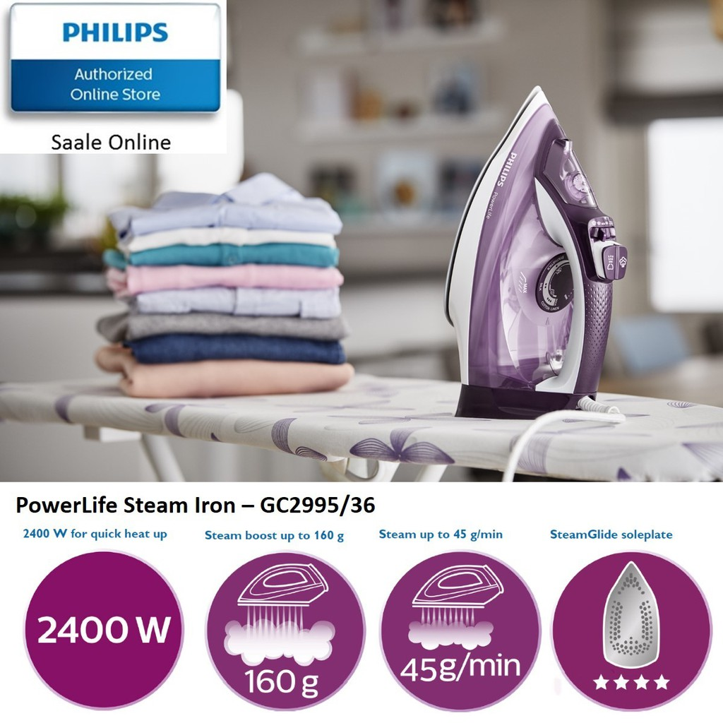 Philips Dry Iron With Dynaglide Sole Plate Shopee Singapore Hd 1172