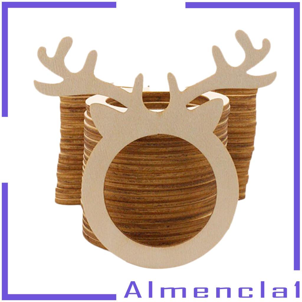 Almencla1 10pcs Handmade Exquisite Deer Head Napkin Holder Rings Wedding Home Kitchen Shopee Singapore