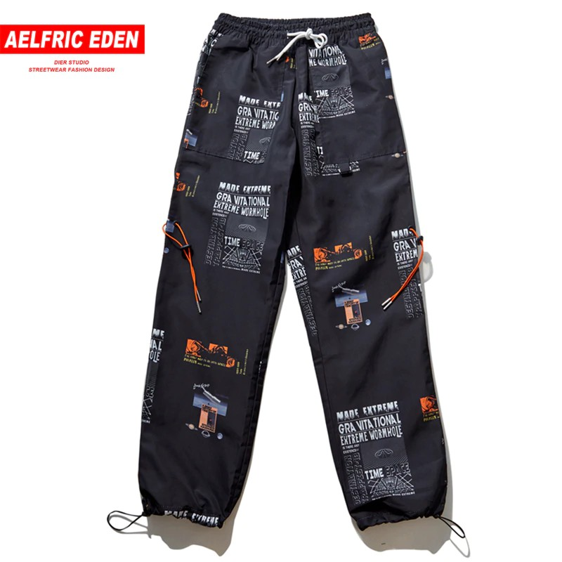 6102895fe47f Aelfric Eden Summer Joggers Star Print Harajuku Sweatpants F | Shopee  Singapore