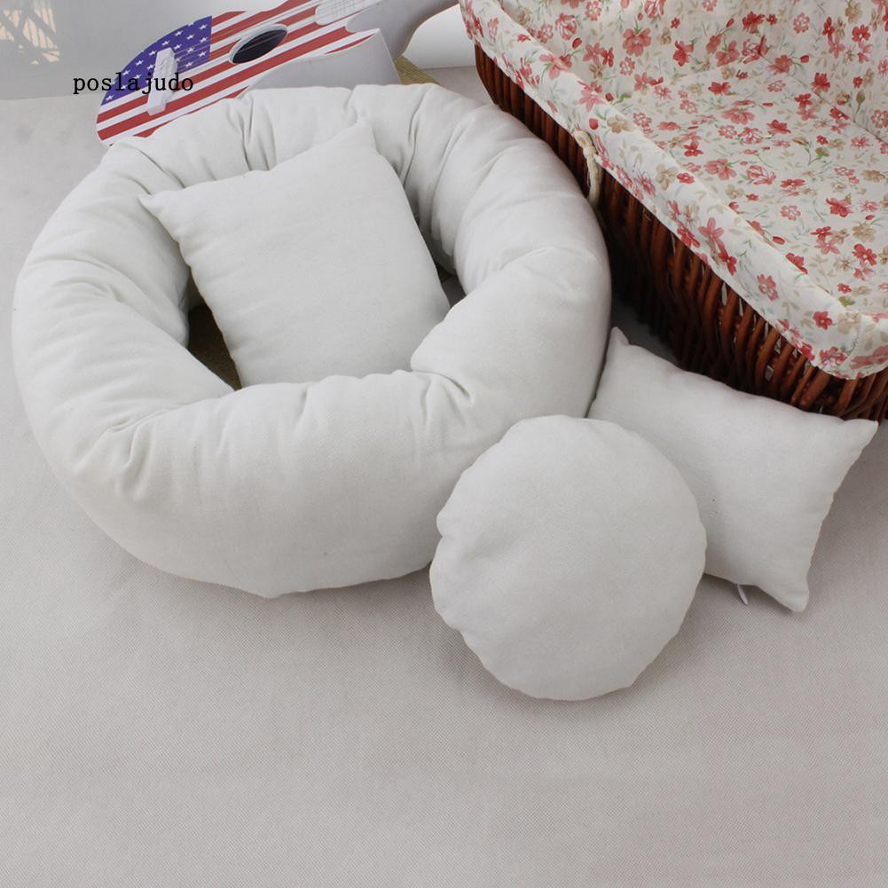 2x Infant Baby Photography Pillows Basket Filler Wheat Donut Posing Props