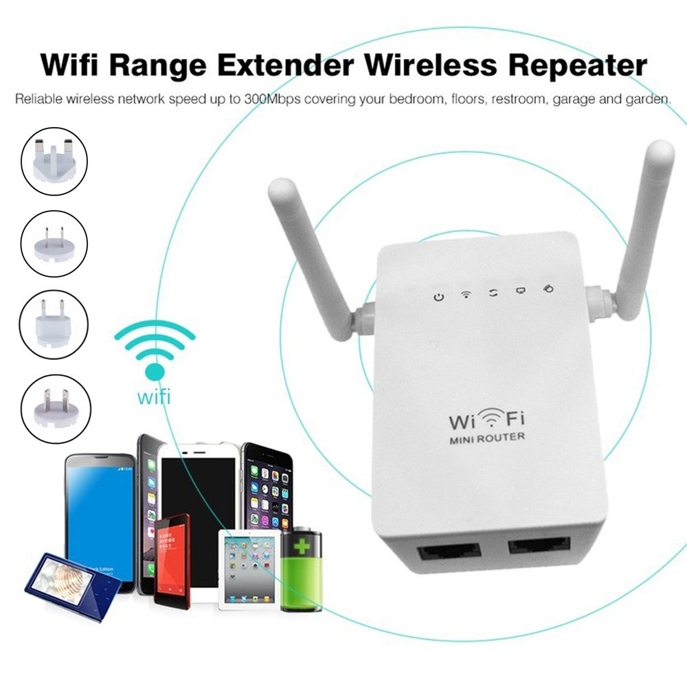 Antenna Wireless Range Extender WiFi Repeater Network Router for Home Office
