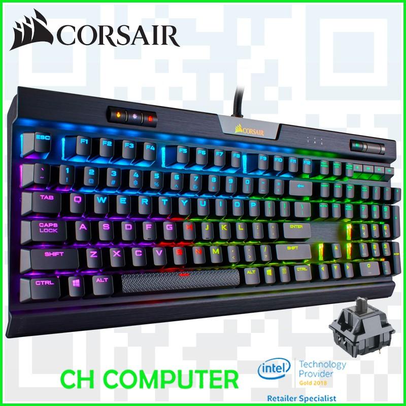 5882a60d3e3 CORSAIR K70 RGB MK.2 Mechanical Gaming Keyboard - Cherry MX Blue   Shopee  Singapore
