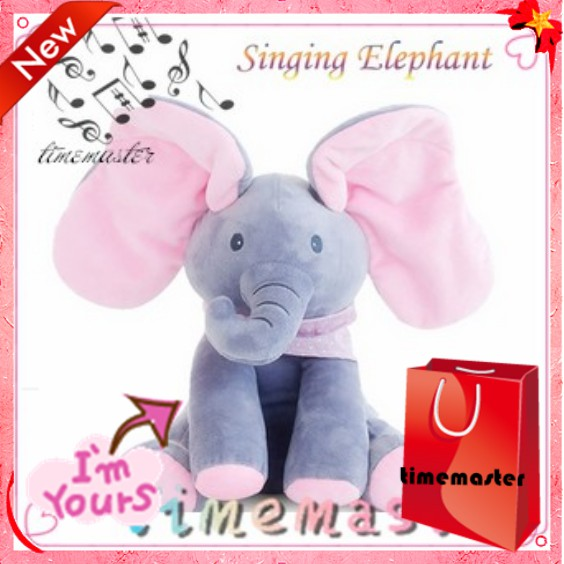 TMR🌱Peekaboo Elephant Baby Plush Singing Flappy Play Stuffed Animated Doll  Toy