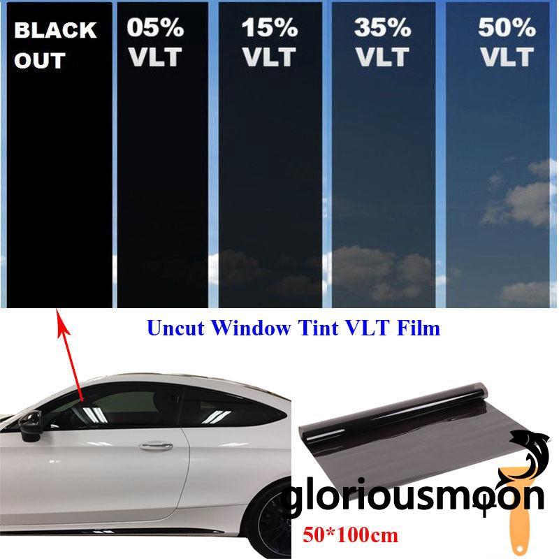 25/% VLT Car Window Tint Film Tinting Roll Black UV-Proof Sun Resistant Hot Sale