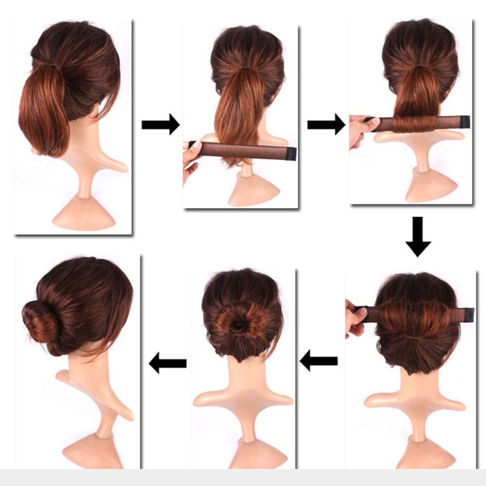 hair curls bun updo donut former artificial wig hair twist