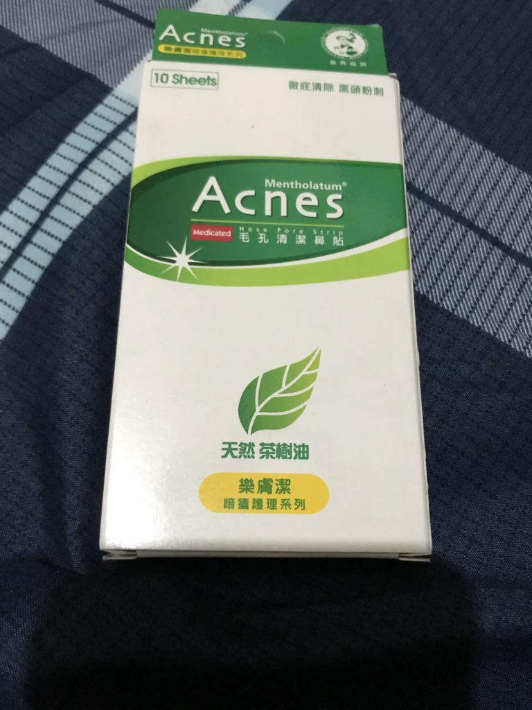 3 X Mentholatum Acnes Nose Pore Strip Health & Beauty 10 Sheets