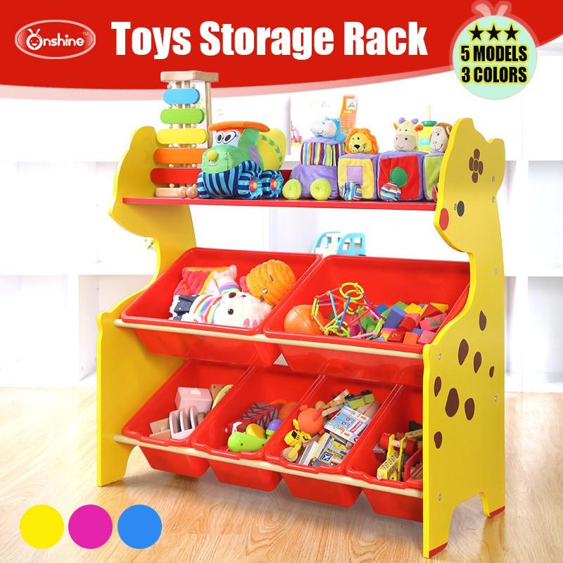 Kids Toys Storage Rack Shelf