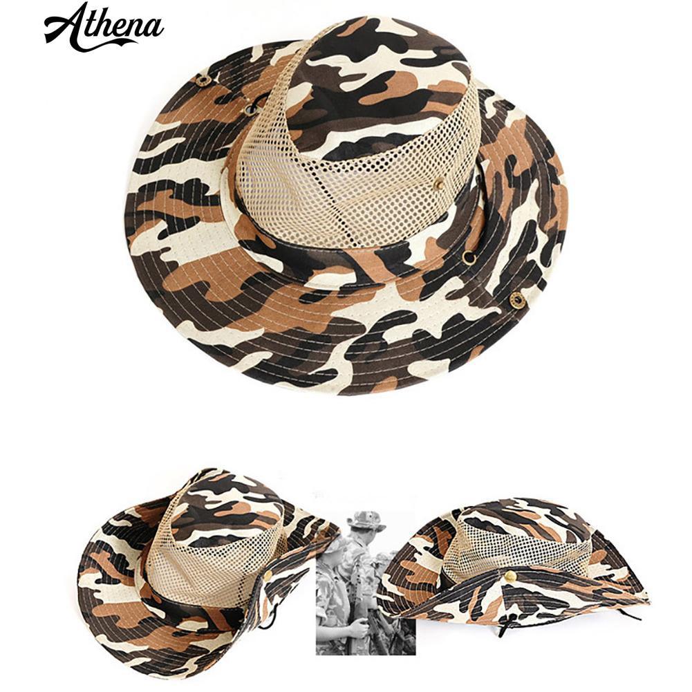 d51e1539df6  Fishing Sun Resistant Hat Breathable Mesh Climbing Camouflage Cap Sunhat
