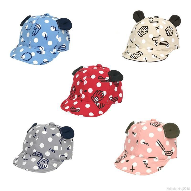 e48e3dfed7b Dot Baby Caps New Girl Boys Cap Summer Hats For Boy Infant Sun Hat With Ear