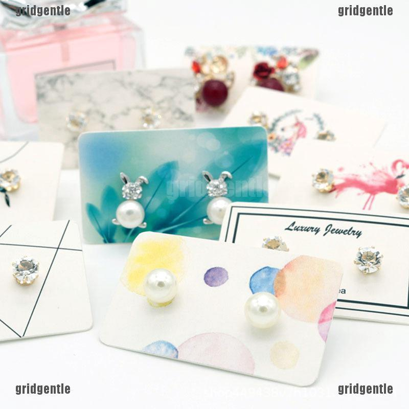 100pcs Necklace Hang Tag Card Fodable Jewelry Display Package Cards Tag
