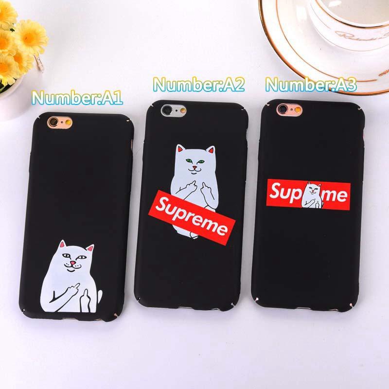 Supreme Cat Middle Finger Iphone 5s 6 6s Plus 7 7Plus 8 X Xs Max