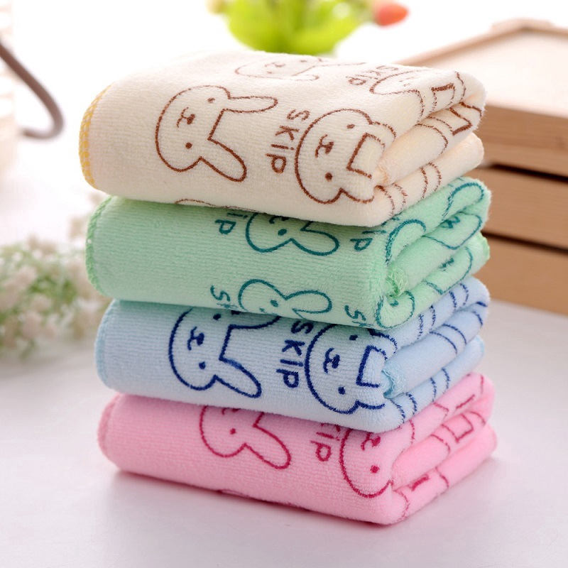 Baby Bath Soft Drying Cotton Washcloth Absorbent Cute Rabbit Microfiber Towel