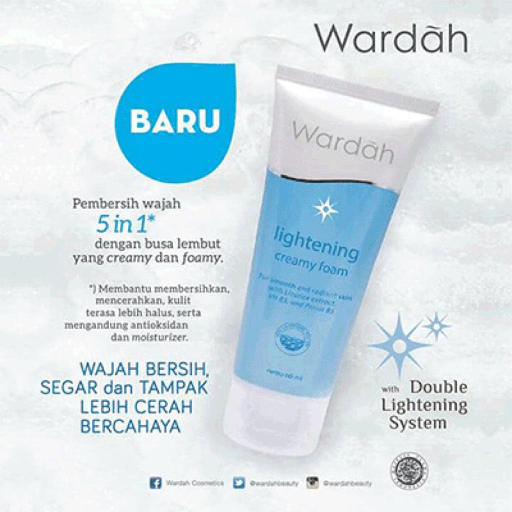 Wardah Lightening Creamy Foam 60g Halal Cosmetic Shopee Singapore Grntle Wash