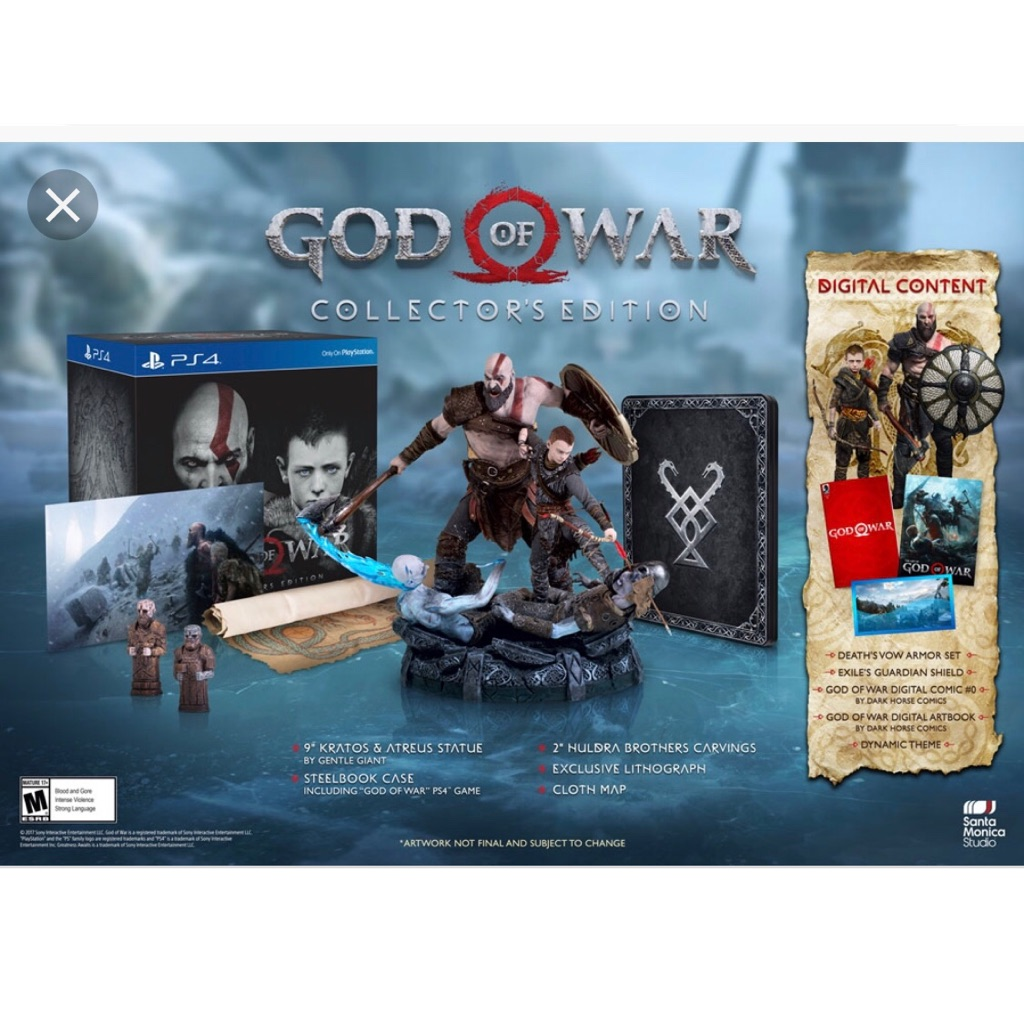 PS4 God Of War Collector's Edition