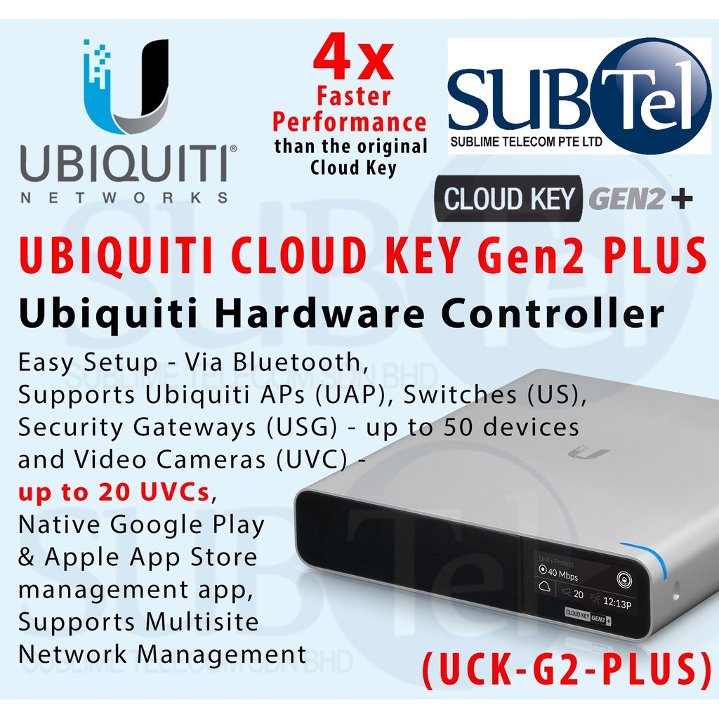 Ubiquiti Unifi Cloud Key Gen 2 Plus - UCK-G2-PLUS With UniFi Protect UCK-G2  UC-CK UBNT Singapore