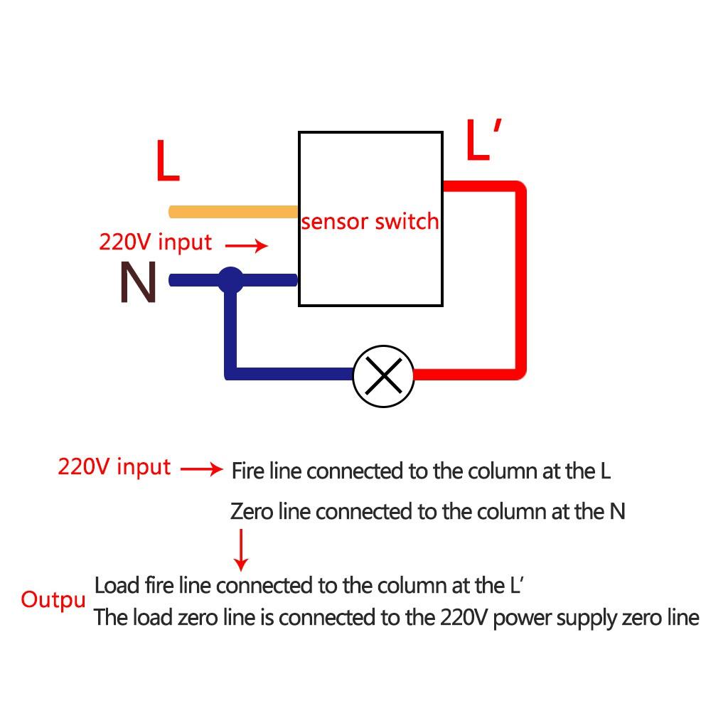 Pir Motion Sensor Detector Home 220v 360 Degree Recessed Light Switch Wiring Diagram Small Control Shopee Singapore