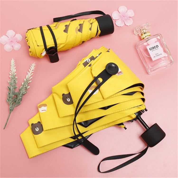 bbb39ad9844b Fashion Mini Umbrellas Sunscreen Parasol Small Five Folding Umbrella Rain