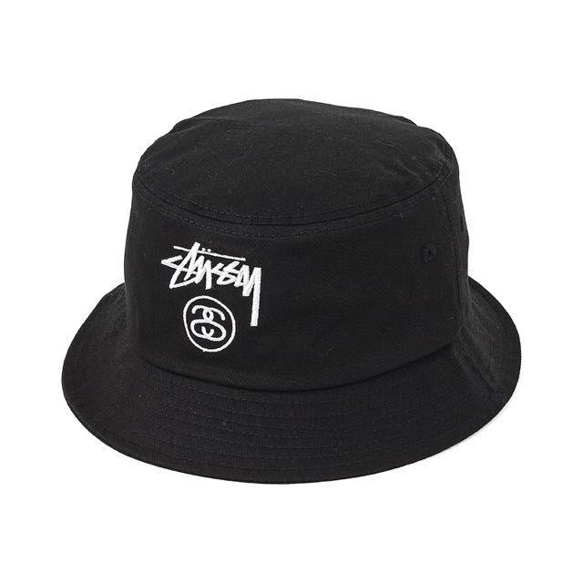 Stussy Bucket Hat In Black  fb0d3a081